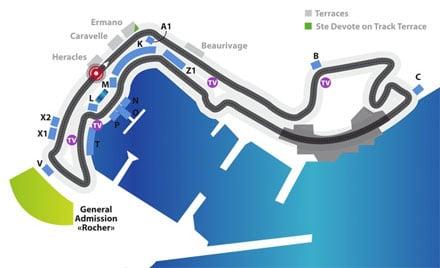 Plan F1 Monaco
