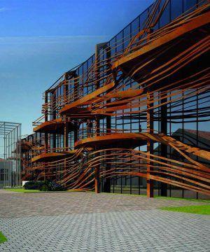 Architecture monumentale du Chais Monnet