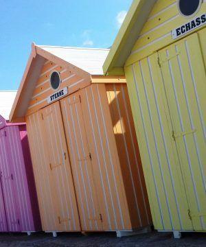 les cabines de bain sur la plage de Berck